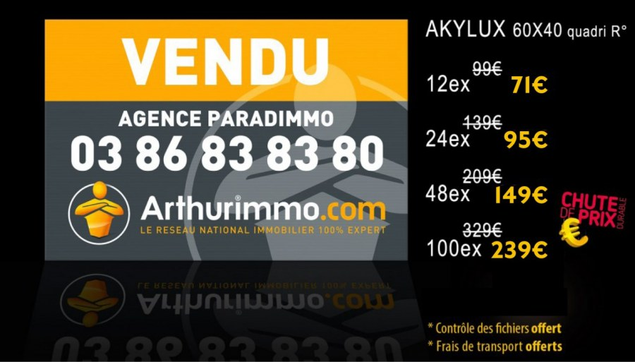 Panneau Akylux 40 * 60 cm